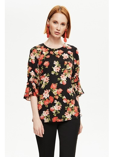 NaraMaxx Volanlı Bluz Renkli